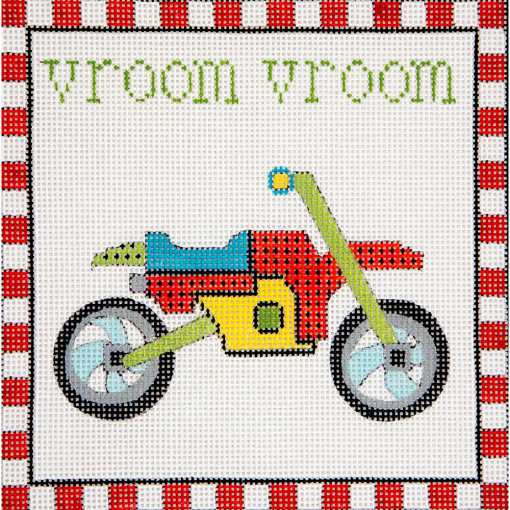 click here to view larger image of Vroom Vroom Motorcycle (hand painted canvases)