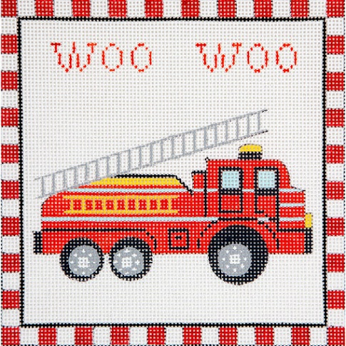 click here to view larger image of Woo Woo Fire Truck (hand painted canvases)