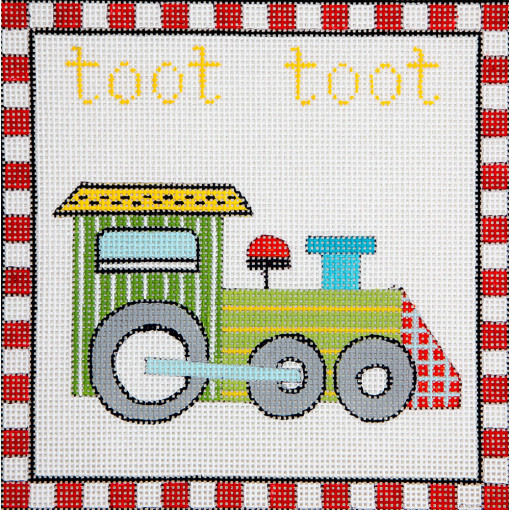 click here to view larger image of Toot Toot Train (hand painted canvases)