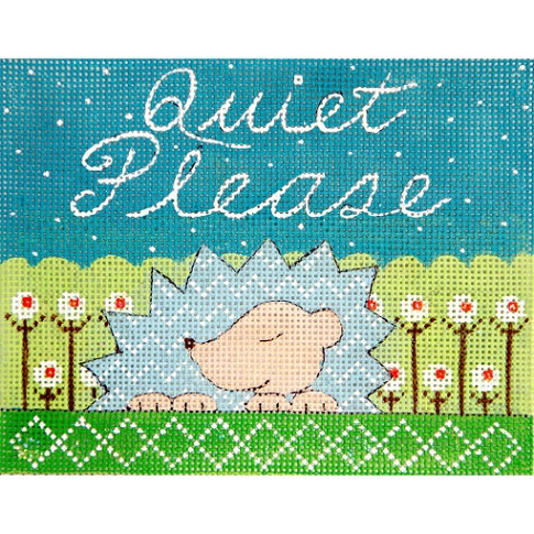 click here to view larger image of Hedgehog Baby Sleeping (hand painted canvases)