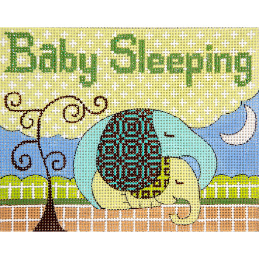 click here to view larger image of Elephants Baby Sleeping (hand painted canvases)