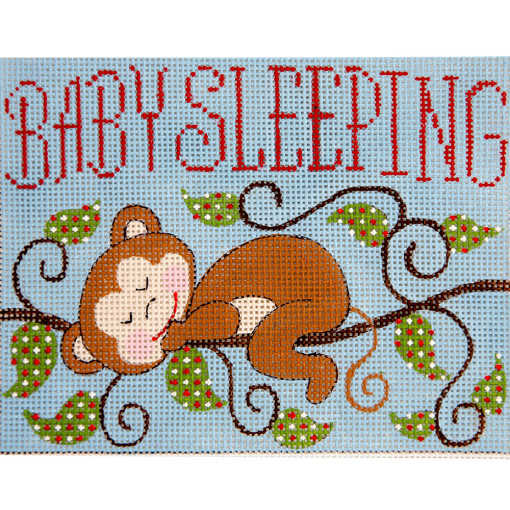 click here to view larger image of Monkey Baby Sleeping (hand painted canvases)