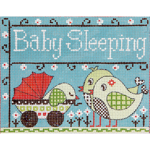 click here to view larger image of Baby Birds Sleeping (hand painted canvases)