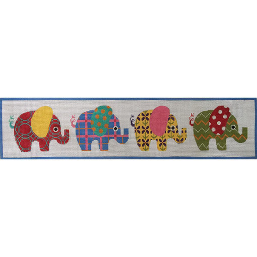 click here to view larger image of Patterned Elephants (hand painted canvases)