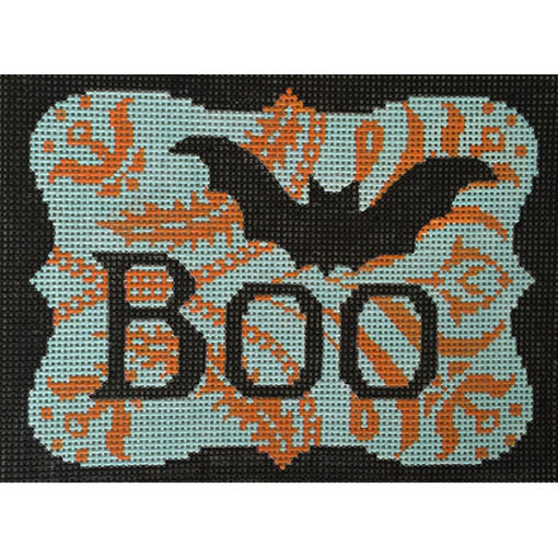 click here to view larger image of Boo and  Bat (hand painted canvases)