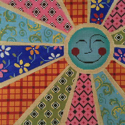 click here to view larger image of Sun Rays Patchwork (hand painted canvases)