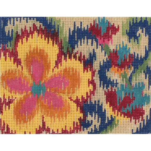 click here to view larger image of Small Ikat Floral (hand painted canvases)