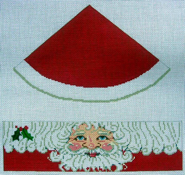 click here to view larger image of Santa Round Hinged Box (hand painted canvases)