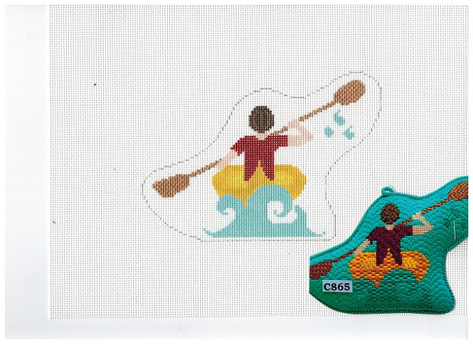 click here to view larger image of Kayaking The Lake (hand painted canvases)