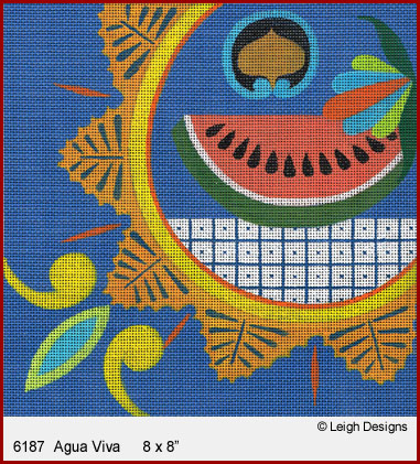click here to view larger image of Agua Viva (hand painted canvases)