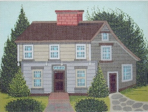 click here to view larger image of Salt-Box Wethersfield (hand painted canvases)