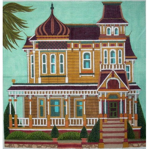 click here to view larger image of Redlands Victorian (hand painted canvases)