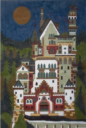 click here to view larger image of Ludwigs Castle (hand painted canvases)