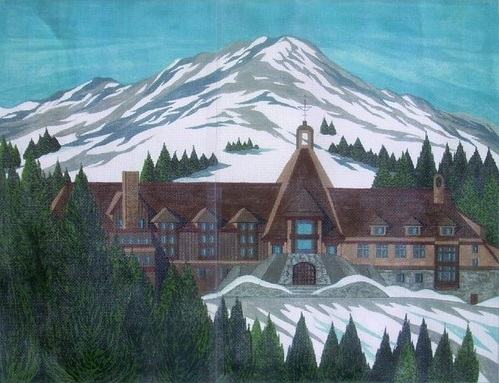 click here to view larger image of Timberline Lodge - Mt. Hood, OR (hand painted canvases)