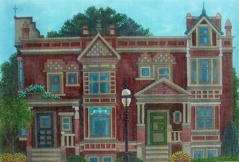 click here to view larger image of Gaslight Square, Portland, Oregon (hand painted canvases)