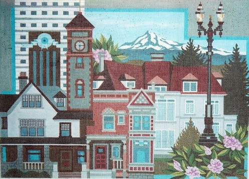 click here to view larger image of Portland, Oregon, Montage (hand painted canvases)