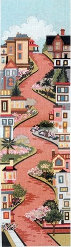 click here to view larger image of Lombard Street (hand painted canvases)