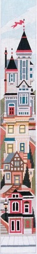 click here to view larger image of Victorian House Bellpull 2 (hand painted canvases)