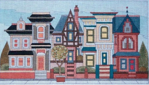 click here to view larger image of Pacific Heights (hand painted canvases)