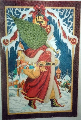 click here to view larger image of Old World St. Nick (hand painted canvases)