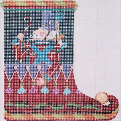 click here to view larger image of Nutcracker Slipper (hand painted canvases)