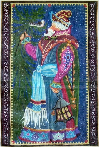click here to view larger image of St. Nick and Bird (hand painted canvases)