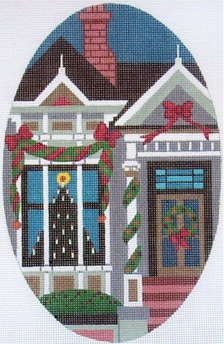click here to view larger image of Victorian Christmas Window (hand painted canvases)
