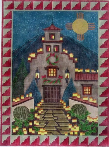 click here to view larger image of Old Santa Fe Tapestry (hand painted canvases)