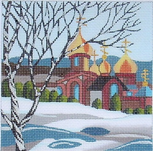 click here to view larger image of Russian Snow (hand painted canvases)
