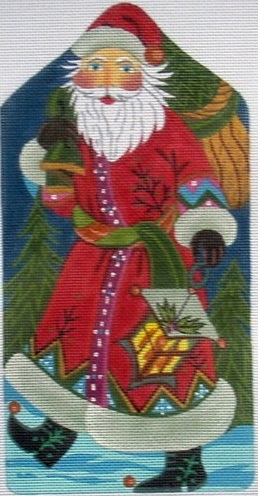 click here to view larger image of Santa Standup with Lantern (hand painted canvases)