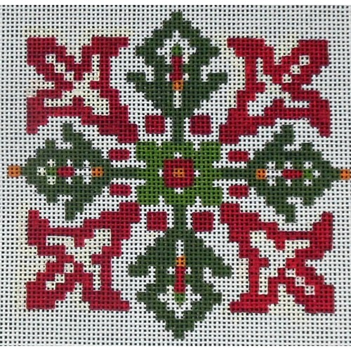 click here to view larger image of Christmas Floral (hand painted canvases)
