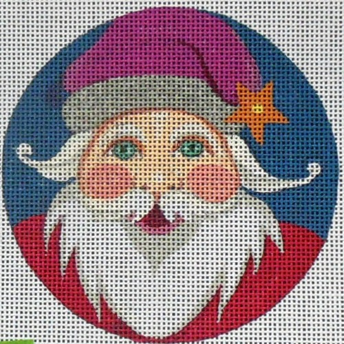 click here to view larger image of Santa Ornament (hand painted canvases)