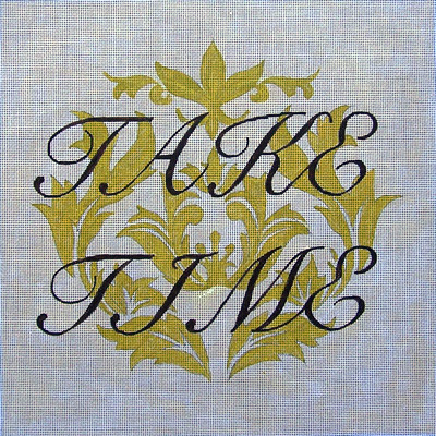 click here to view larger image of Take Time (hand painted canvases)