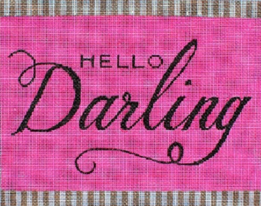 click here to view larger image of Hello Darling (hand painted canvases)