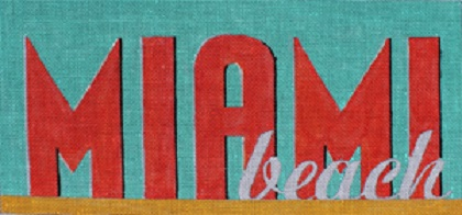 click here to view larger image of Miami Beach (hand painted canvases)