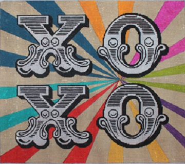click here to view larger image of XOXO (hand painted canvases)