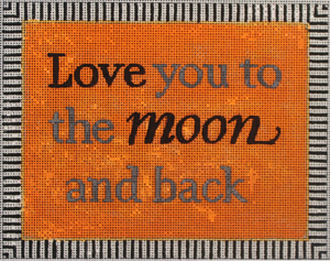 click here to view larger image of Love You To the Moon ... (hand painted canvases)