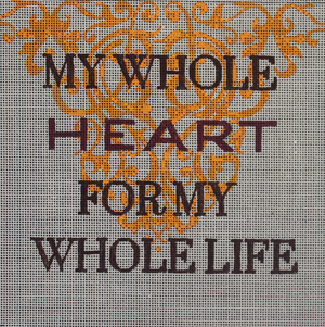 click here to view larger image of My Whole Heart ... (hand painted canvases)
