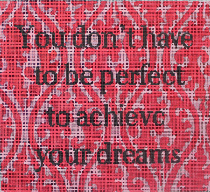click here to view larger image of You Dont Have to Be (hand painted canvases)