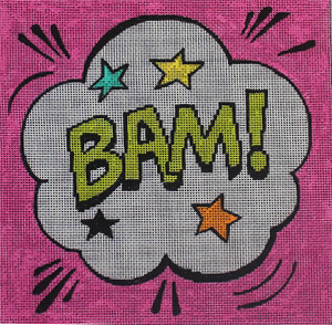 click here to view larger image of Bam! (hand painted canvases)