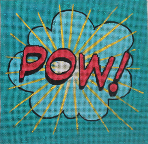 click here to view larger image of Pow! (hand painted canvases)