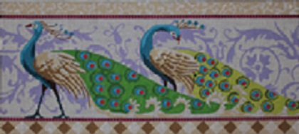 click here to view larger image of Peacocks (hand painted canvases)