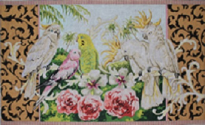 click here to view larger image of Parakeets/Cockatoos (hand painted canvases)