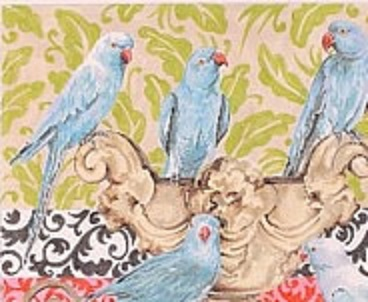 click here to view larger image of Blue Parakeets (hand painted canvases)