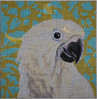 click here to view larger image of White Parrot (hand painted canvases)