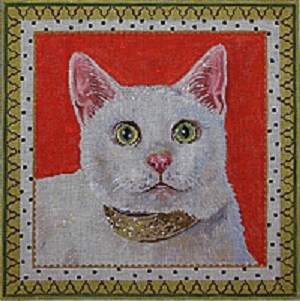 click here to view larger image of Elegant Cat (hand painted canvases)