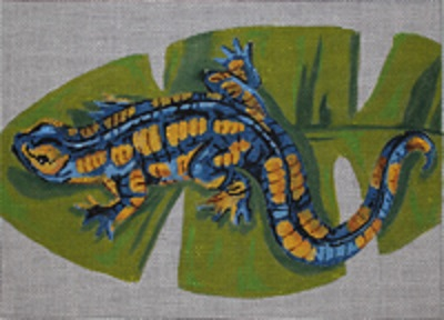 click here to view larger image of Salamander (hand painted canvases)