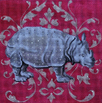 click here to view larger image of White Rhino (hand painted canvases)
