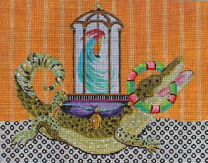 click here to view larger image of Alligator (hand painted canvases)