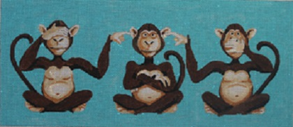 click here to view larger image of 3 Monkeys - See No Evil, Hear No Evil, Speak No Evil (hand painted canvases)